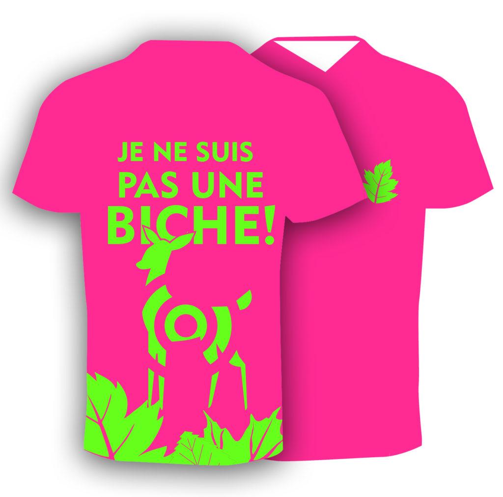T-shirt fluo humoristique, pour le trail running homme. Fabriqué en Savoie, France.