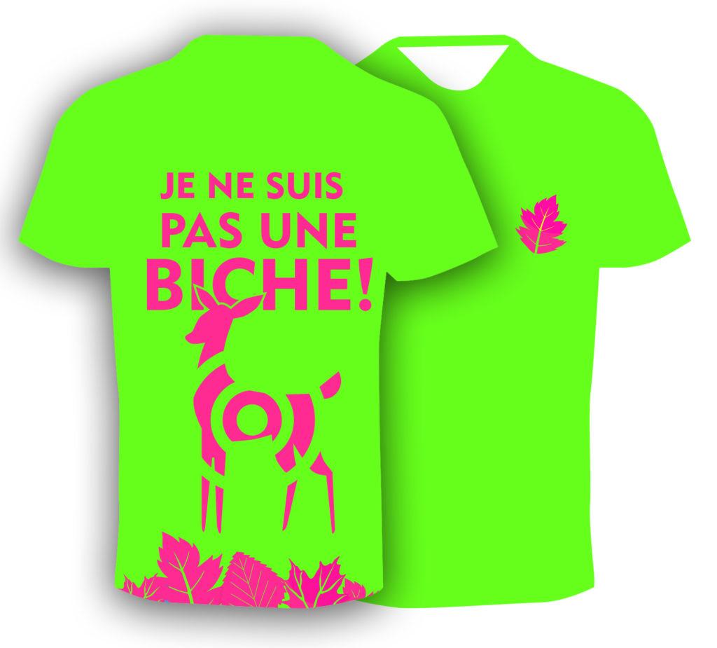 T-shirt fluo humoristique, pour le trail running homme. Fabriqué en Savoie, France. Cadeau sympa pour les trailers, les runners!