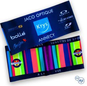 Bandeau chaud publicitaire entièrement personnalisé. Fabriqué en Savoie,France.