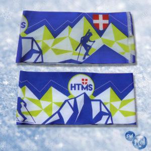 Bandeau chaud créé pour un club de ski alpinisme.