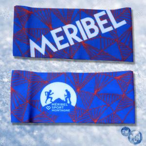 Bandeau chaud créé pour Méribel montagne sport.