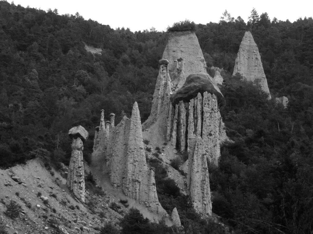 Cheminée de fée, géologie en montagne